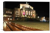Das Konzerthaus at Gendarmenmarkt Berlin, Canvas Print