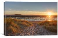 Llanelli Beach Autumn Sunset, Canvas Print