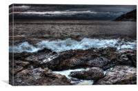 Gritty Welsh Coast, Canvas Print