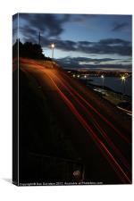 Night trails at Mumbles, Canvas Print