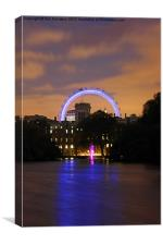 London Eye from St James, Canvas Print