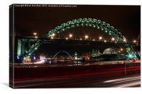 Tyne Bridges at Night, Canvas Print