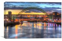 Colour on the Tyne, Canvas Print