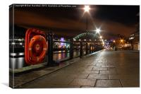 Quayside Shimmer, Canvas Print