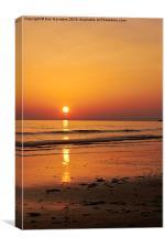 Golden Gower Sunset, Canvas Print