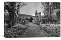 Llandaff Cathedral, Canvas Print