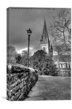 Llandaf Cathedral, Canvas Print