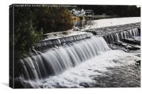 Llandaff Weir, Canvas Print