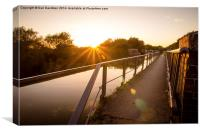 Sunbeam at Iron Trunk Aqueduct, Canvas Print