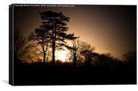 Wolverton Sunset, Canvas Print