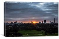 Good morning London, Canvas Print