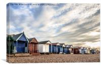 Bold Beach Huts, Canvas Print