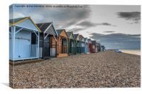 Beach huts at dusk, Canvas Print