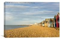 Herne Bay Beach, Canvas Print