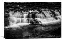 Black and white falls, Canvas Print