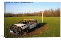 Stolen Car Between the Goalposts, Canvas Print