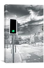 Green light for Wind Street, Canvas Print