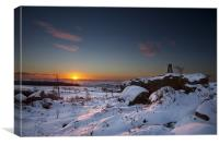 Sunrise At Trigg Point, Canvas Print