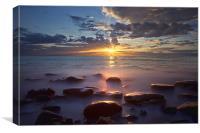 Sunrise At Saltwick Bay, Canvas Print
