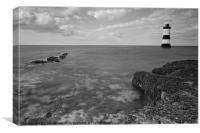 Black Point Lighthouse B&W, Canvas Print