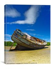 Dulas Bay shipwreck, Canvas Print