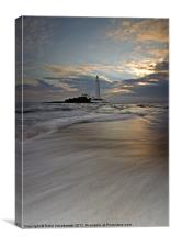 St. Marys Lighthouse sunrise, Canvas Print