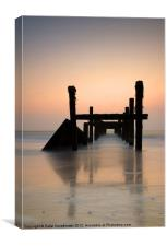 Happisburgh-sunrise, Canvas Print