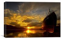 Loch Eil wreckship, Canvas Print