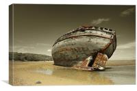 Dulas Bay shipwreck, Canvas Print