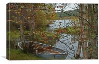 Boat in Hiding, Canvas Print