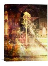 Fountain of Coloured Champagne., Canvas Print
