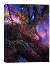 High in the Branches of the Old Oak., Canvas Print