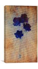 Petit Fleur en Bleu., Canvas Print