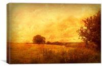 Autumn - Dundry Fields, Somerset., Canvas Print