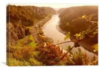 Avon Gorge and Portway., Canvas Print