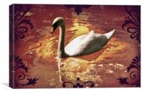 White Swan., Canvas Print