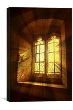 St. Saviours Window., Canvas Print