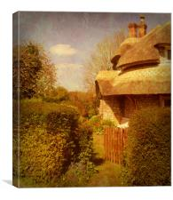 The Cottage Garden., Canvas Print