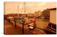 Bristol Docks. , Canvas Print