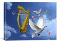 Sky Play., Canvas Print
