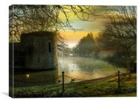 Bishops Palace - Wells., Canvas Print