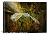 Tangle wood., Canvas Print