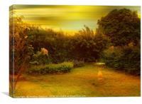 Susie's Garden., Canvas Print