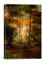 An Evening Ramble., Canvas Print