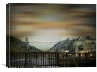 Clifton Suspension Bridge, Bristol., Canvas Print