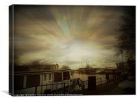 Bristol Harbour., Canvas Print