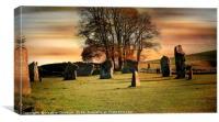 Avebury Stones., Canvas Print