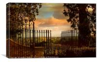 View from the Terrace., Canvas Print