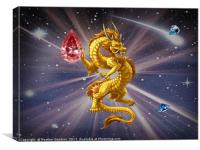 GoldenDragon Guardian., Canvas Print