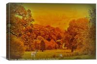 View Across the Park., Canvas Print